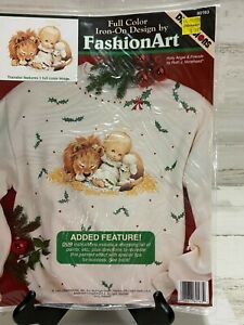 DIMENSIONS Fashion Art Iron-On Transfer Holly Angel & Friends Vintage 1993