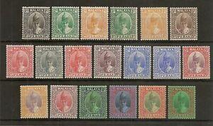 MALAYA PERAK 1938-41 SULTAN TO $5 SG103/21 HINGED MINT