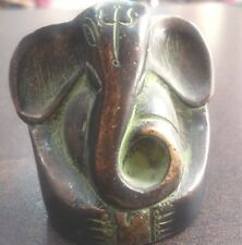 STATUE INDIAN VINTAGE LORD GANESHA BRASS  GIFT  ITEM  FOR DECORATION  GOOD LUCK
