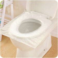 6pcs/set Disposable Travel Safety PE Plastic Toilet Seat Cover Mat portable CA