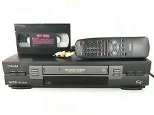 Toshiba Vcr Player Vhs Recorder W607 One Minute Rewind 4-Head Hi-Fi & Remote