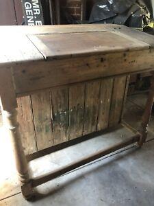 Old 1800s rare Australian school teacher's desk
