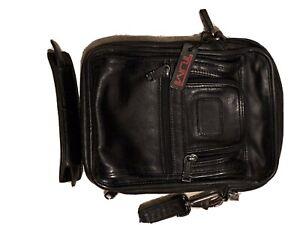 Tumi Leather Small Crossbody Messenger Bag