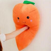 55CM Cartoon Carrot Stuffed Plush Toy Doll Vegetable Soft Pillow Cushion Gift