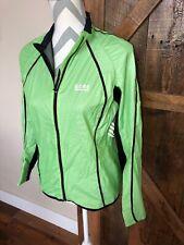 GORE Running Wear Reflective Jacket Womens M Green Great Condition Light Zip