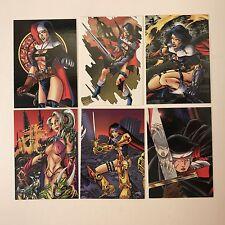 PROMO CARDS: WARRIOR NUN AREALA 1997 BOLT: 6 DIFFERENT P1 P2 P3 P4 P5 & P6 (set)