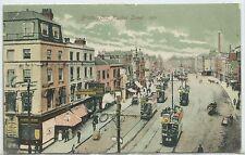 BRISTOL - OLD MARKET STREET  1906 Postcard (Plenty of TRAMS & SHOP SIGNS)