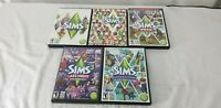Lot of 5 The Sims 2 Expansion Packs for PC Video Games EA Rated Teen