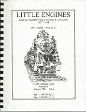Live Steam Locomotive Parts Catalog LITTLE ENGINES 3 AVAILABLE 1955-1970 Vtg