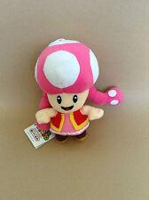 Super Mario Peluche Teddy-Toadette Jouet Doux-Taille: 17.5 cm-Neuf
