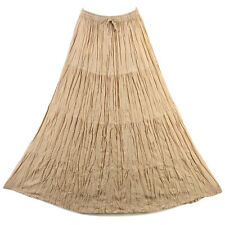 Bohemian Tier Long Skirt Boho Hippy Hippie Gypsy Brown XS-XL sk167bm