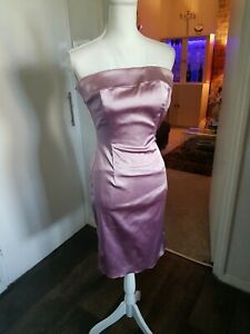Coast Dust Pink Occasion Bodycon Knee Length Dress Bustier UK 8