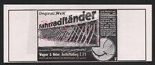 ASCHAFFENBURG, Werbung 1935, Wagner & Neher Fahrrad-Ständer