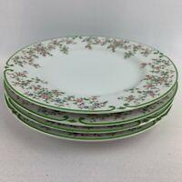 Set of 4 Mikasa Fine China Beaumont Salad Plates - Japan