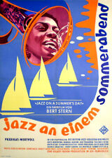 JAZZ ON A SUMMER'S DAY rare movie poster from 1959