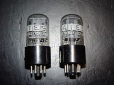 MATCHED PAIR OF VALVES TUBES 6SN7GT ATES RCA ITALY NEW NOS NUOVE VALVOLA TUBE