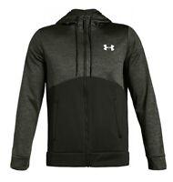 Mens Under Armour Hoodie Full Zip Hooded Fleece Lining Top Sports  NEW RRP£59.99