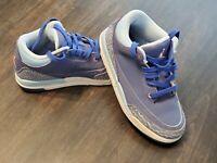 Nike Air Jordan 3 Retro Purple Dust Sneaker 441140-506 Leather kids Size 13