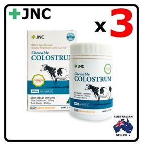 3 x JNC PANAX Australia Colostrum 820mg 200 Capsules Tablets