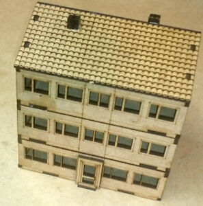 15mm Scale Post War Apartments MDF Kit, Team Yankee, Flames of War FOW