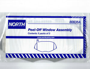 15x North 80836A Window Lens Protector Cover For All Full Face Respirator Shield