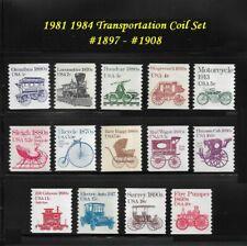 RJames: US 1897 -1908, 1981-1984 Transportation coil set, MNH, F/VF