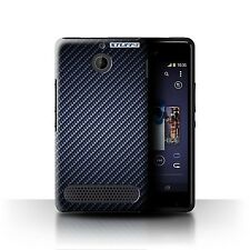 Stuff4 Phone Case/cover for Sony Xperia M/c1905 /carbon Fibre Effect/pattern Blue