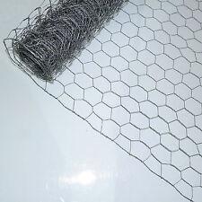 Galvanised Welded Chicken Rabbit Wire Mesh Fence Garden Fencing 90cm x 50m