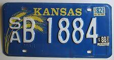 Kansas 1988 SALINE COUNTY License Plate NICE QUALITY # SA B 188