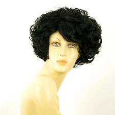 Parrucca donna corta ricci nero : MARIE LOU 1B