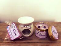 'Alien' Perfume Candle Tin, Wax Melt & Burner- Birthday Christmas Gift / Present