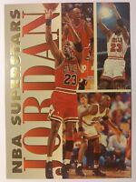 1993 93-94 FLEER NBA SUPERSTARS Michael Jordan #7, Sharp MJ Insert, Bulls