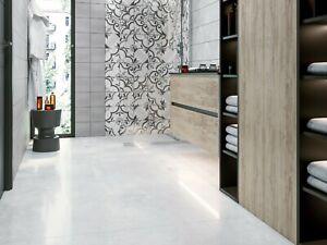 SAMPLE £18.89m2 Light Grey Lappato Porcelain Tiles 60X60 wall-floor non slip