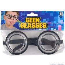 50's Nerd Geek Dork Glasses Thick Lens Kids Shades Costume Coke Bottle Frame GaG