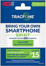 Tracfone - Bring Your Own Phone Gsm 3-in-1 Sim Card Kit (4G Lte) -at&T Compatibl