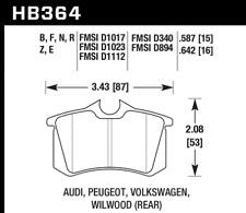 Hawk Disc Brake Pad-GLS Rear for Audi A6 / Volkswagen Golf / Jetta # HB364F.587