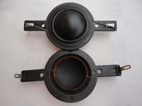 "2 pcs ID: 25.5mm (1"") silk diaphragm Tweeters horn voice coil-short frame 80mm"