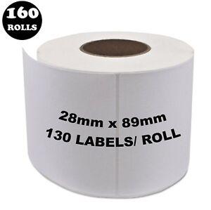 160 Rolls Dymo Seiko Compatible 99010 Labels 28mm x 89mm Labelwriter 450 Printer