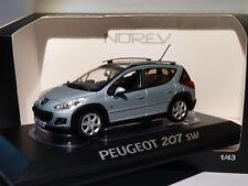 Peugeot 207 SW Extérieur 1/43 NOREV (argent Bleu)