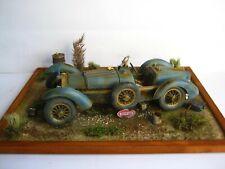 Bugatti Type 59 Dioramen in 1:18 Burago 1934 Scheunenfund Handarbeit modellich