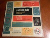 Morton Gould Rhapsodies Sealed Lp 1953 Piano Columbia Masterworks Weill