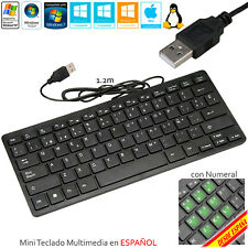 Tastatur Spanisch Notebook USB Multimedia PC Mit Buchstabe Ñ Windows Mac