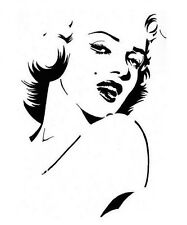 high detail airbrush stencil monroe eight FREE UK  POSTAGE