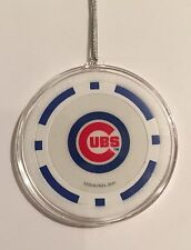 Chicago Cubs Blue Chip Christmas Tree Hanging Ornament Holiday Poker Baseball