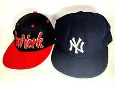 New York Yankees New Era & New York Baseball Cap / Hat Size 7 3/4 MLB Navy Blue