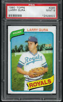 1980 Topps Larry Gura Kansas City Royals #295 PSA 9 MINT SET BREAK