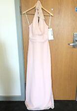 New Jim Hjelm Ladies Size 14  Pink Wedding Dress Bride Rrp £270 Maxi Bridle BNWT