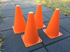 "4x Orange Marker Cones 9"" Sport Soccer Rugby Football Tennis Basketball Training"