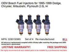 4 Fuel Injectors for 95-99 Dodge Chrysler Mitsubishi Plymouth 2.0L I4 OEM Bosch