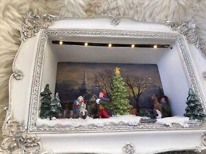 🌹New MR CHRISTMAS THOMAS KINKADE FRAMED ANIMATED SCENE - SPIRIT OF CHRISTMAS🌹